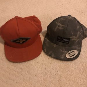 Billabong & Rca hats